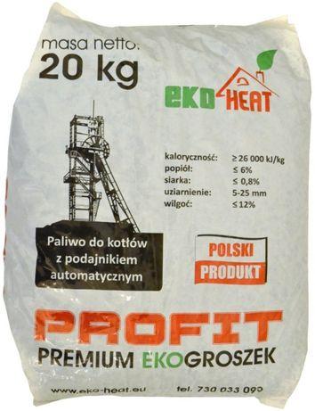 Węgiel PROFIT 27-28MJ/kg PREMIUM EKOgroszek 20kg - Dystrybutor EKOHEAT
