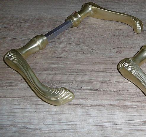 Stara zabytkowa klamka klamki antyk mosiądz