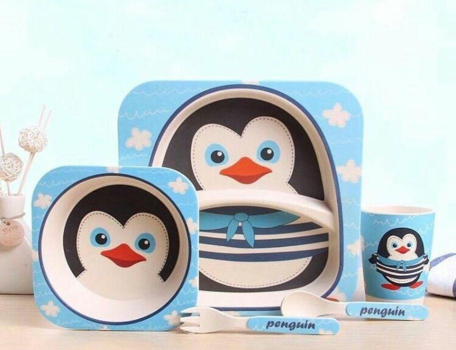 Набор бамбуковой посуды с пингвином Харьков - изображение 1