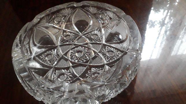 Подарок  пепельница богемское стекло