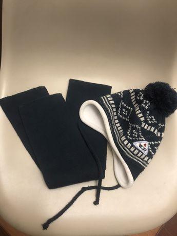 Шапка + шарф на 2-3 годика, комплект