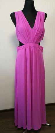 Asos sukienka nowa wesele boho romantic folk simple pink 42