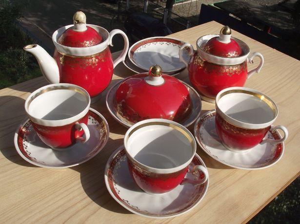 """Сервиз чайный """"Красный"""" (не полный) можно попредметно"""