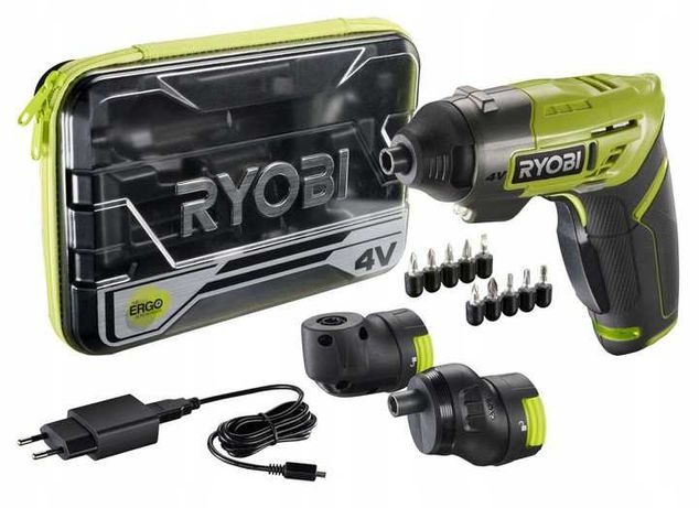 RYOBI ERGO-A2 Wkrętarka 4V MICRO USB Nasadki Bity