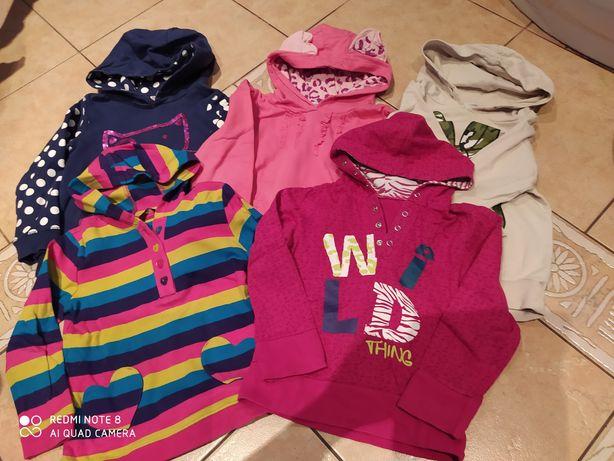 Bluza z kapturem dla dziewczynki 4-5 lat 110