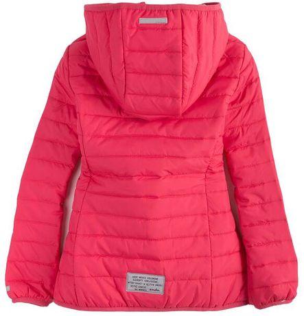 endo 140 Pikowana kurtka z kapturem dla dziewczynki wiosenna rożowa