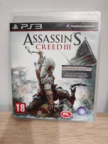 PS3 Assassin's Creed 3 III PL Stan BDB LEGALNA FIRMA