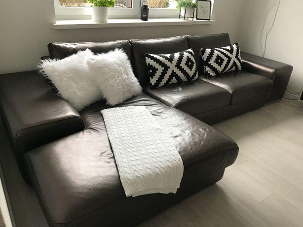 Sofa skórzana z szezlongiem