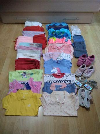 Zestaw 98 ubrania dla dziewczynki katana jeansowa kurtka wiosenna z ka