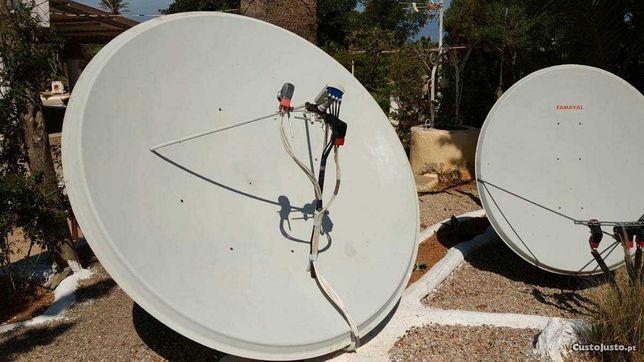 Montagem de antenas parabólicas e TDT