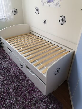 Łóżko dziecięce podwójne wysuwane