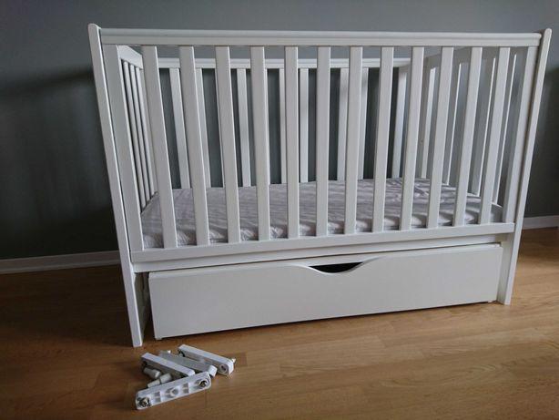 Кровать белая детская кроватка Верес маятник с полкой матрас соня лд13
