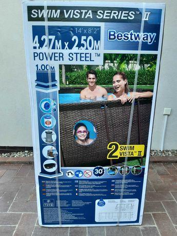 Basen Bestway owalny z okienkiem 427 x 250 x 100, 7.250 l.