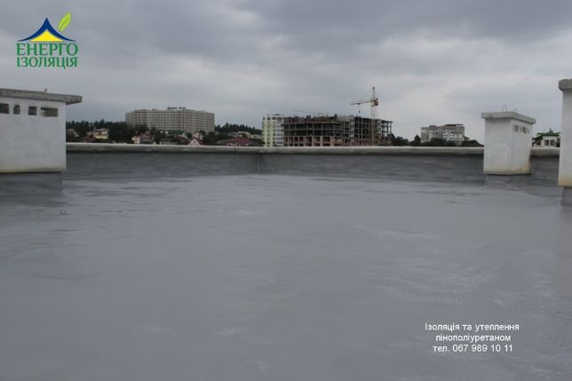 Тепло- та гідроізоляція дахів, фундаментів піною, полісечовиною