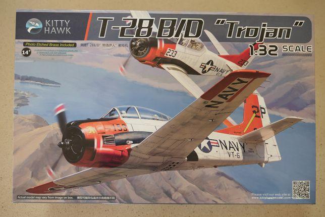 Kit modelismo T28BD Trojan 1/32 Kitty Hawk + extras Eduard