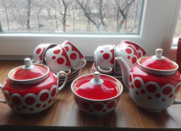 Сервиз, чашки, блюда, чайник СССР