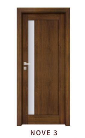 Drzwi łazienkowe NOVE 3 orzech klasyczny lewe