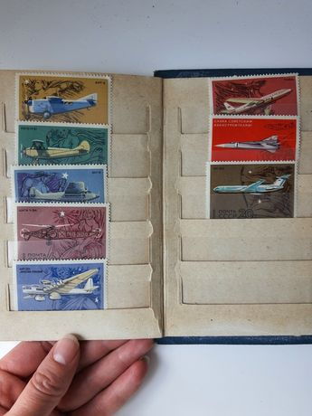 Набор марок с самолетами 1969