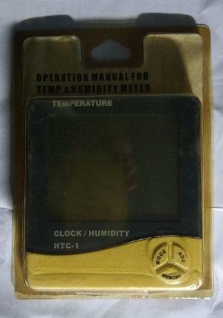 Термометр гигрометр часы будильник HTC-1