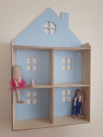 półka domek do pokoju dziecka wisząca PROMOCJA