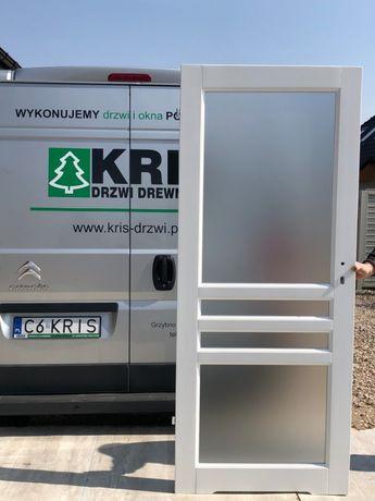 Drzwi OD RĘKI wewnętrzne drewniane białe