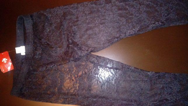 Loveculture legginsy koronkowe czarne, rozmiar S