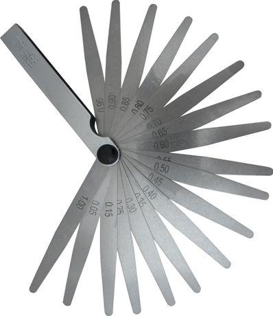 Szczelinomierz 20 listkowy miernik szczelin 0,05-1 (WAR97)