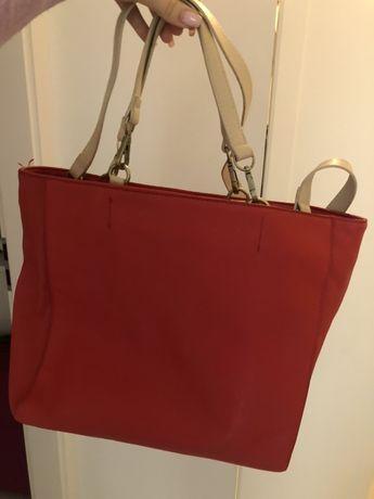 Koralowa torebka Zara