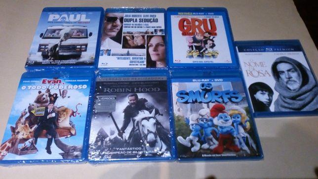 6 Blu-ray: Smurfs, O Gru, Robin Hood, Paul, Dupla sedução... Selados