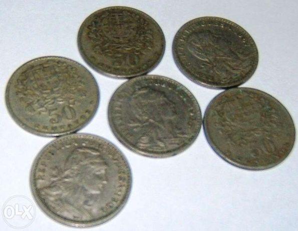Moedas antigas de 50 centavos, Alpaca, 1928 – 1947