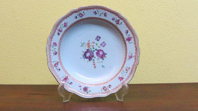 Prato Companhia das Índias porcelana chinesa 23cm