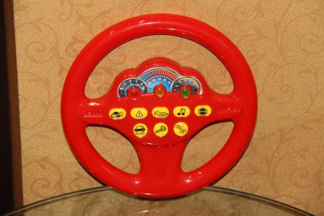 Красный Руль со звуковыми эффектами Кермо червоне мелодии звуки сигнал