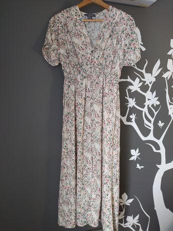 Sukienka długa primark retro vintage guziki 36 s