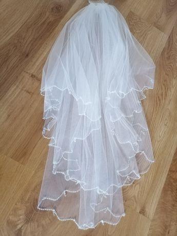 Welon ślubny biały