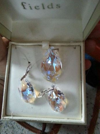 Komplet biżuterii zawieszki srebne