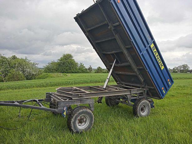Przyczepa Sanok 3-stronny wywrot,Autosan 10 ton