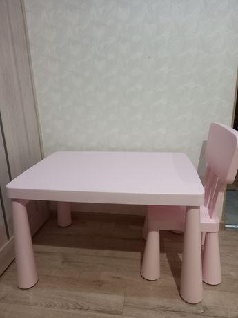 Стол и стул детский Ikea МАММУТ