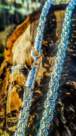 СЕРЕБРО ЦЕПОЧКА мужская цепочка Лисий хвост венецианка серебреная цепь