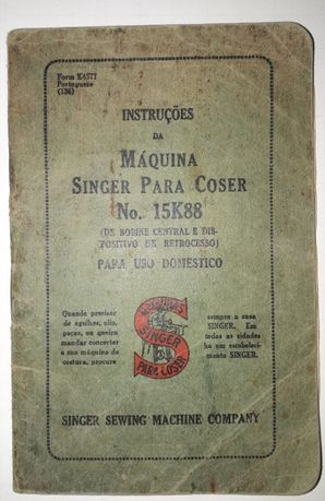 Manual Singer No. 15K88