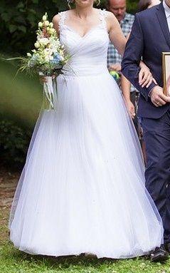 Biała suknia ślubna r. M (38) wzorowana na Sophia Tolli Nightingale