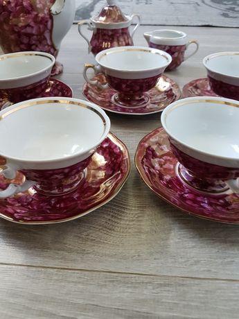 Serwis kawowy Wałbrzych różowy