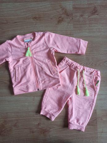 Morelowy dres dla dziewczynki coccodrillo r. 68
