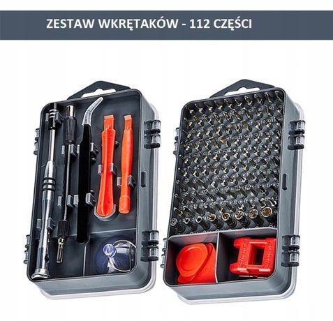Duży zestaw narzędzi precyzyjnych bitów wkrętaków TORX 112 elementów