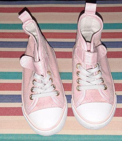 Różowe trampki za kostkę dla dziewczynki 24/25 16cm