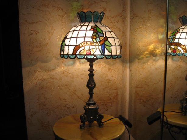 lampa witrażowa tiffany - stara - odlew