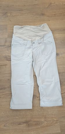 Spodnie rybaczki ciążowe H&M r. 44