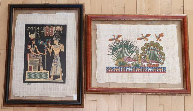 obrazki egipskie na papirusie, ładnie oprawione, wspaniałe na prezent!