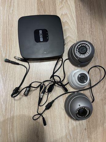Zestaw kamer do monitoringu nagrywarka BCS