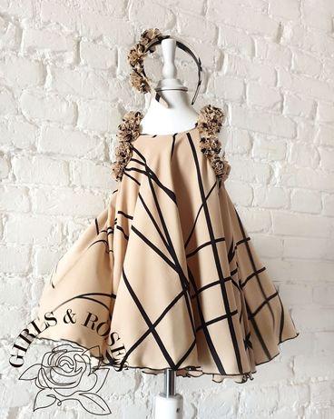 Летнее платье для девочки 104-110см