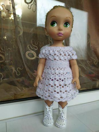 Нарядное платье с пайетками для куклы Дисней Аниматор, 38-40 см